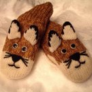 MOUNTAIN LION MITTENS knit ADULT Puma Wildcat Cougar COUGARS delux Halloween Costume Cat