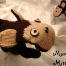 MONKEY MITTENS Knit Fleece Lined Adult MENS WOMENS brown anime Winter Warm Halloween Costume