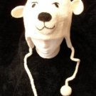 Spirit POLAR BEAR HAT knit ski cap QUALITY animal Peewee COSTUME Adult ear FLEECE LINED delux