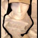 PENGUIN HAT knit Halloween Costume ADULT pittsburgh penguins ski cap FLEECE LINED baby pom poms