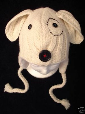 dog hat petey pit bull knit adult little rascals lined
