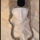 KOALA HAT knit  ADULT Lined BEAR animal ski cap FLEECE LINED gray Costume grey delux knitwits
