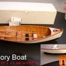 "Wood ROW BOAT Skif Dory CANOE model replica display  approx 11.5"" Item 229103"