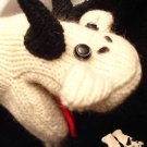 GOAT MITTENS knit FLEECE LINED soft & comfy Barn Animal puppet