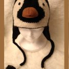 Knit PENGUIN HAT mens womens FLEECE LINED animal cap Costume ice hockey skating costume