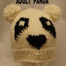 PANDA HAT bear knit adult size POMS costume emo anime soft comfy
