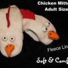 CHICKEN MITTENS rooster puppet ADULT SIZE kid therapy Halloween Costume
