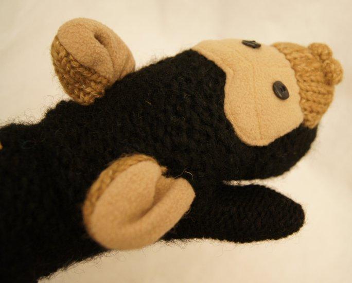 ADULT CHIMPANZEE MITTENS monkey chimp black FLEECE LINED