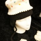 VANILLA CUPCAKE HAT knit cap FLEECE LINED ladies womens costume ADULT