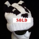 BADGER HAT Knit RIGID EARS  Soft & Stretchy ONE SIZE FITS ALL adult men women wisconsin badgers