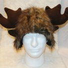 MOOSE HAT cap FURRY monster  decoy antlers animal costume elk decoy cap