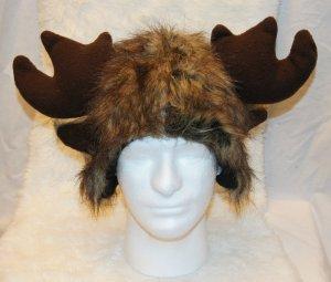 MOOSE HAT cap FURRY monster  decoy antlers animal costume elk decoy cap