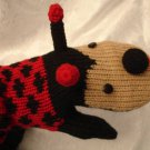LADYBUG MITTENS knit ADULT animal fleece lining Matching Hat sold separate