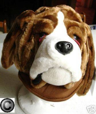 Dog Head Hat Plush Human Halloween Costume Saint Bernard