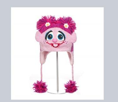 Abby Cadabby ADULT knit Halloween Costume mask cap toque beanie FLEECE LINED pink