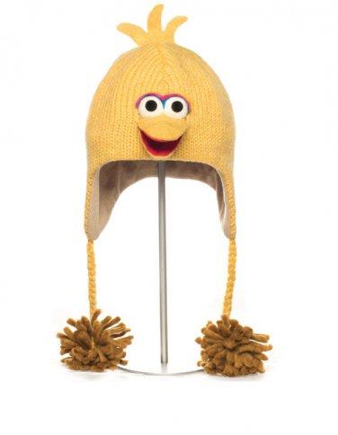 BIG BIRD HAT knit ski cap ADULT delux HALLOWEEN Costume FLEECE LINED Sesame Street delux BIRD LOVER