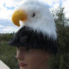 BALD EAGLE HAT costume plush real life like head bird