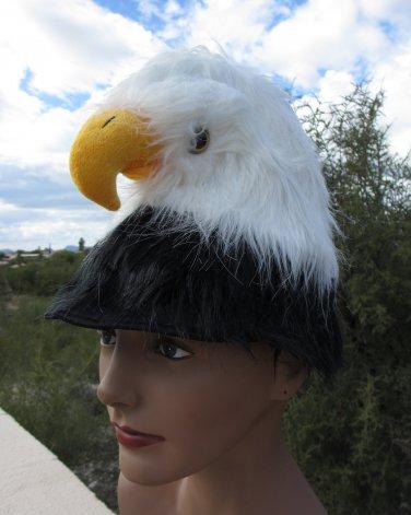 BALD EAGLE HAT costume plush real life like head bird