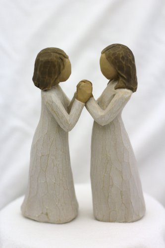 Willow Tree ANGELS Sisters by Heart New Gift figurine statues friends Valentine's day gift
