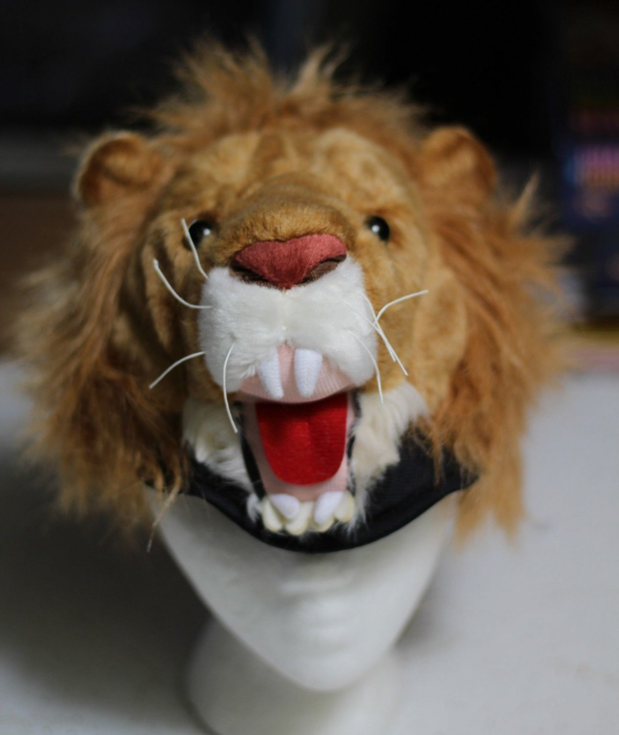 LION HAT cats PLUSH cat lions CAP HALLOWEEN Costume mask on head does not cover face