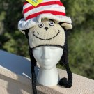 © Dr. Seuss CAT IN THe HAT knit LINED halloween costume ADULT ski cap deLux TALL