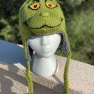 © Dr. Seuss green GRINCH HAT knit LINED halloween costume ADULT ski cap deLux TALL