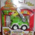 Green Utility Bucket Truck