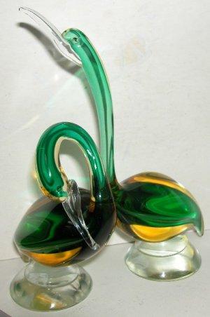 Murano art glass Barbini Ducks-1950's