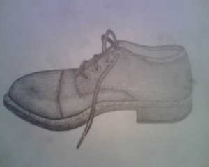 Pencil drawing of shoe By: Steve Higgins