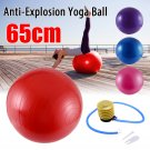65 CM GYM YOGA BALL EXERCISE  + PUMP (RED)