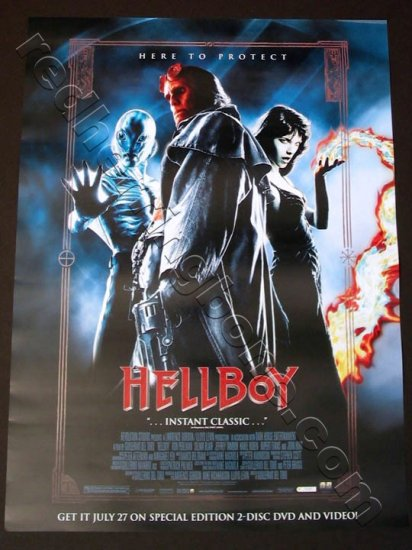 "Hellboy Promo Movie Poster for DVD release (Ron Perlman) 18""x24"" NEW"