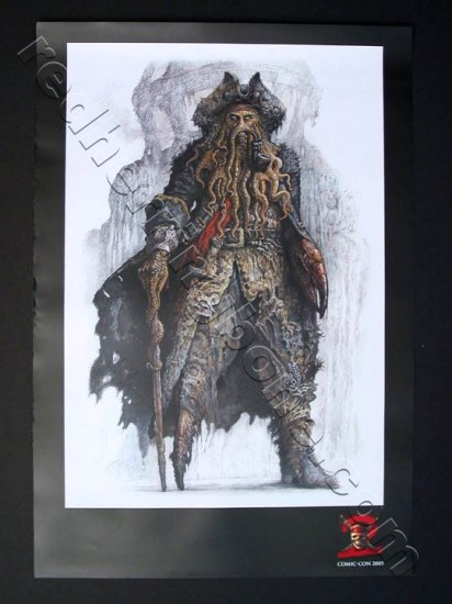 Pirates of the Caribbean: Dead Man's Chest Promo Movie Teaser Poster (San Diego Comic-Con) NEW