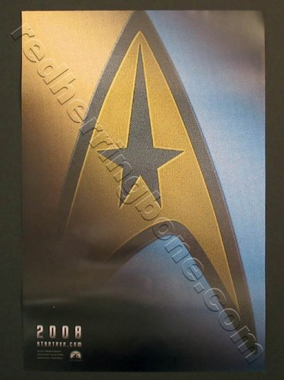 "Star Trek Promo Movie Teaser Poster (J.J. Abrams) 13-1/2""x20"" NEW"