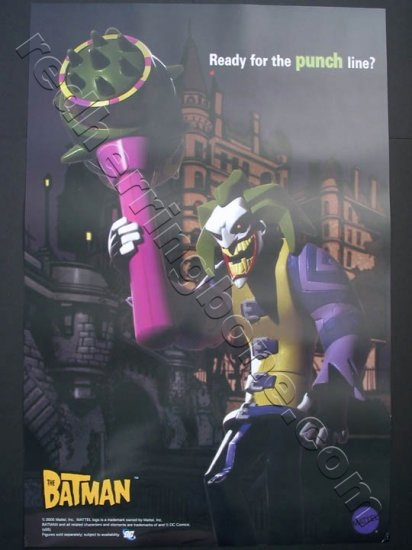 """The Batman"" Promo Poster for Mattel action figure toys featuring The Joker & Mr. Freeze NEW"