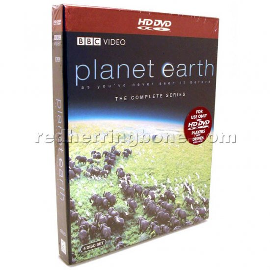 Planet Earth The Complete BBC Series HD DVD 4-Disc Set (narrated by David Attenborough) NEW