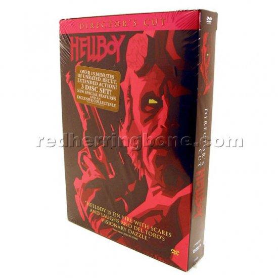 Hellboy Director's Cut DVD 3-Disc Set Widescreen (Ron Perlman, Selma Blair) NEW