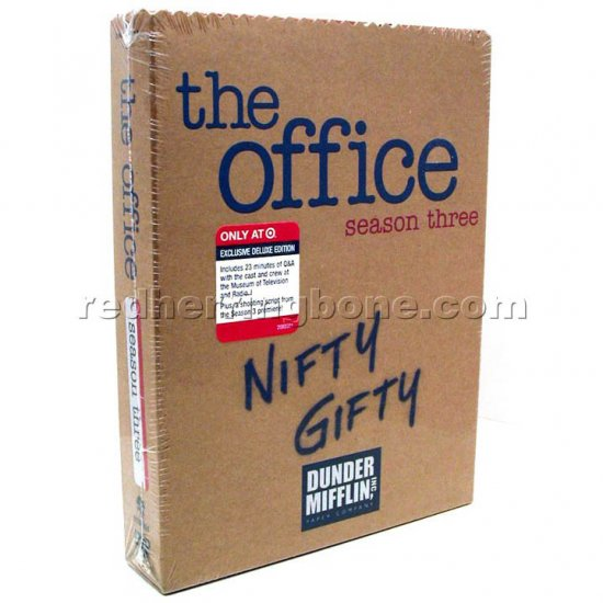 The Office Season Three DVD (3 Third 3rd) with Bonus Disc & Script (Target Exclusive) RARE NEW