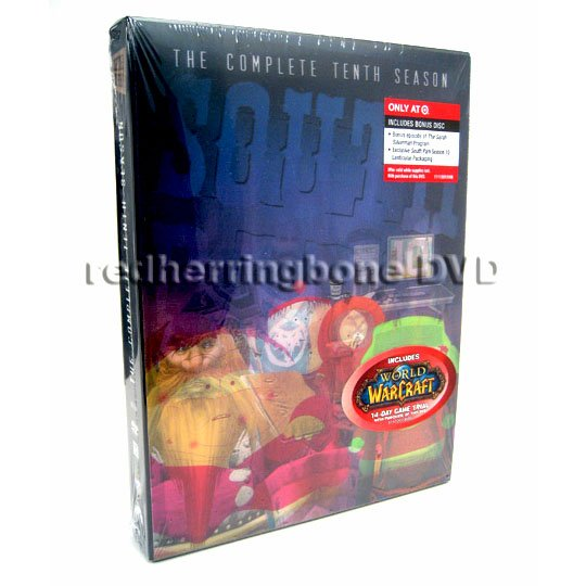 South Park Complete Tenth (10th) Season DVD w/ Bonus Disc & Lenticular Cover (Target Exclusive) NEW