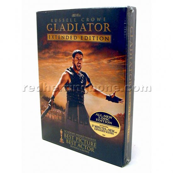 Gladiator (2000) 3-Disc Extended Edition DVD RARE (Russell Crowe) NEW
