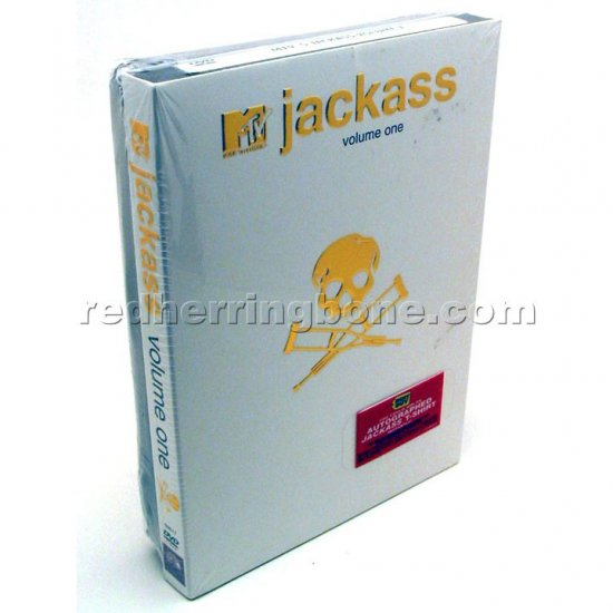 Jackass Volume 1 One DVD with T-Shirt (Best Buy Exclusive) NEW