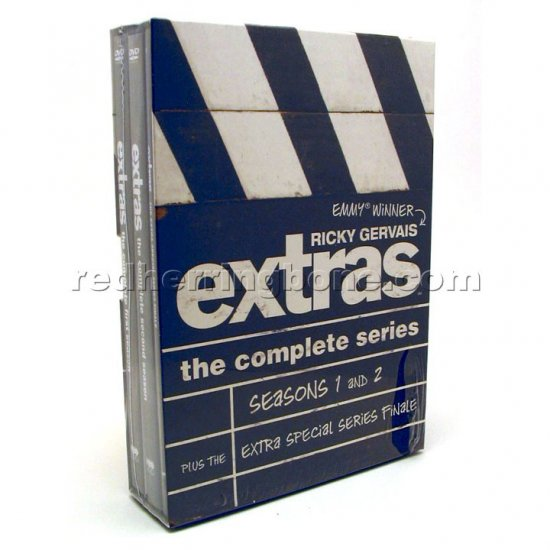 Extras The Complete Series DVD (Ricky Gervais) Seasons 1 & 2 + Extra Special Series Finale NEW