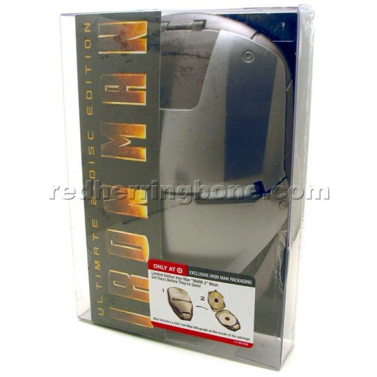 Iron Man Ultimate 2-Disc DVD with 'Mark 2' Mask Case Packaging (Target Exclusive) NEW