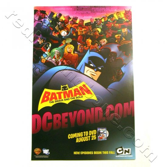 Batman: The Brave & The Bold - animated series Promo Poster for DVD release (DC Comics) NEW
