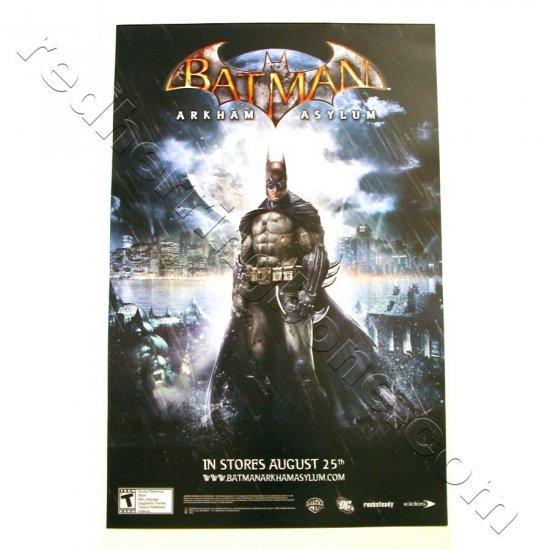 Batman: Arkham Asylum Promo Poster for video game NEW