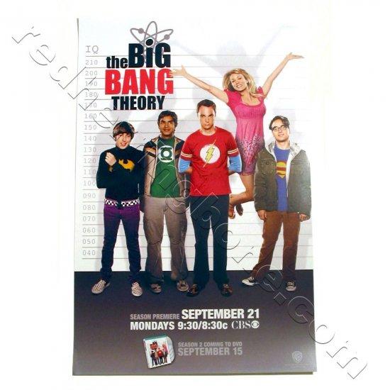 The Big Bang Theory (Kaley Cuoco, Johnny Galecki, Jim Parsons) Promo Poster for 2009 season NEW