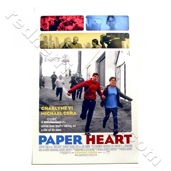 "Paper Heart (2009) Promo Movie Mini Poster (Charlyne Yi, Michael Cera) 11""x17"" NEW"
