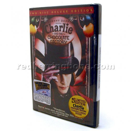 Charlie and the Chocolate Factory 2-Disc Deluxe Edition Widescreen DVD RARE (Johnny Depp) NEW