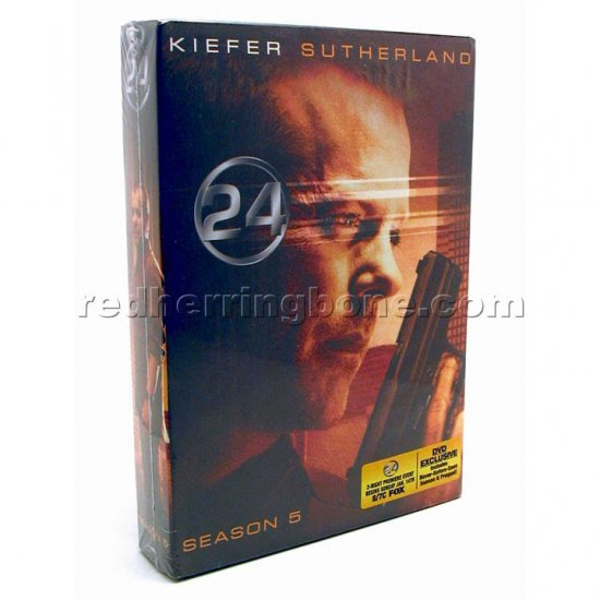 24 - Season Five (5th Fifth 5) 7-Disc DVD (Kiefer Sutherland) NEW