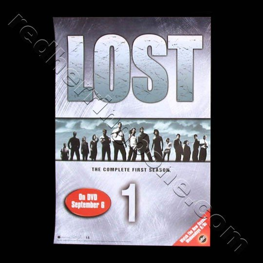 Lost TV Show Promo Poster for Season 1 DVD release ABC NEW
