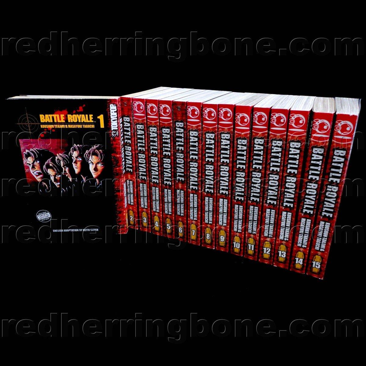 Battle Royale, Vol  1-15 Manga (set includes 15 volumes